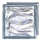 6 Piezas Bloque de vidrio Bormioli Rocco colección Agua Perla Indigo | cm 19x19x8 | Unidad de venta 1 caja de 6 pzas