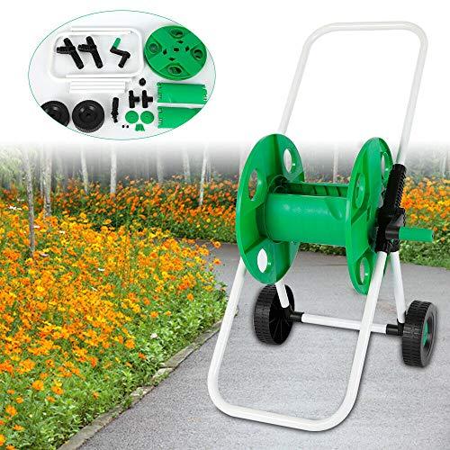Carro para manguera de jardín de 50 m y 1/2 pulgadas