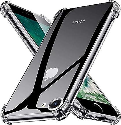 YUSSHENG Funda iPhone 7,Funda iPhone 7,Funda para iPhone SE 2020 iPhone 7/8, HD Clara Caso, Anti- Choques, Anti- Arañazos, Protección a Bordes y Cámara, Premiun Carcasa para iPhone 7/8/SE