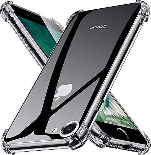 YUSSHENG Funda iPhone 7,Funda iPhone 7,Funda para iPhone SE 2020 iPhone 7/8, HD Clara Caso, Anti- Choques, Anti- Arañazos,...