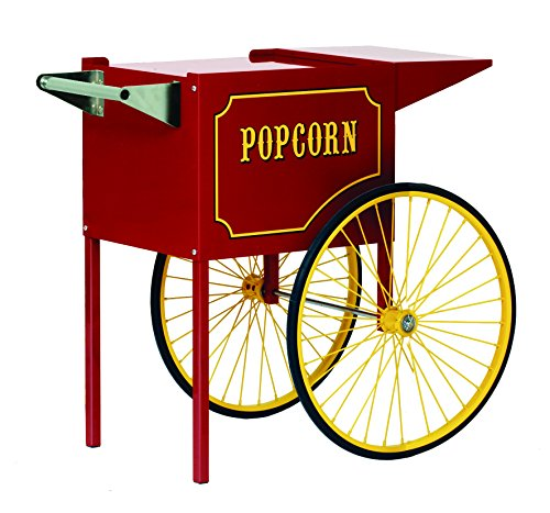 Paragon - Manufactured Fun Medium Popcorn Cart for 6 and 8-Ounce Poppers (Red)