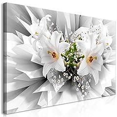 Idea Regalo - murando Quadro Mega XXXL Fiori 160x80 cm Straordinario Stampa su Tela XXXL per Un Facile Montaggio Fai da Te Grande Immagini Moderni Murale DIY Decorazione da Parete Giglio 3D Effetto b-C-0213-ak-e