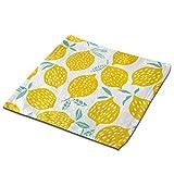 Pizeok Toalla de toallita de limón Amarillo Toalla Cuadrada de 13 x 13 Pulgadas para baño, hogar, Hotel, SPA
