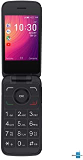 Alcatel GO FLIP 3 Black 4GB 4052W (GSM Unlocked) Flip Phone - For Senior Easy Use (Renewed)