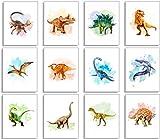 Dinosaur Wall Decor Art Prints - Set Of 12 8x10 Unframed Dinosaur Poster- Dinosaur Room Decor For Boys Dinosaur Decor Dinosaur Bedroom Decor For Boys & Girls Dinosaur Bathroom Decor Wall Art