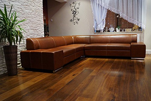 Ecksofa London II RE 277 x 247 Braunes Echtleder Sofa Couch mit Schlaffunktion, Bettkasten Leder Antique Tabac Ledersofa Echt Leder Eck Couch Ledermöbel große Farbauswahl