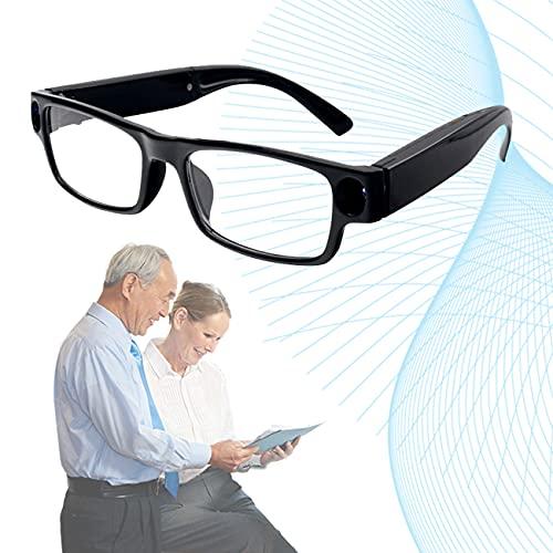 ZhiLianZhao Gafas Lectura, Reading Glasses con Carga USB, Luces LED, No Es Fácil Romper, Fácil Transportar para Enviar Mensajes Texto y Leer Instrucciones,Negro,3.5