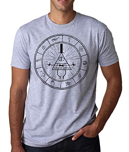Gravity Falls Symbol Artwork Sci-fi Series Be Herren T-Shirt Weiß Grau Schwarz Medium