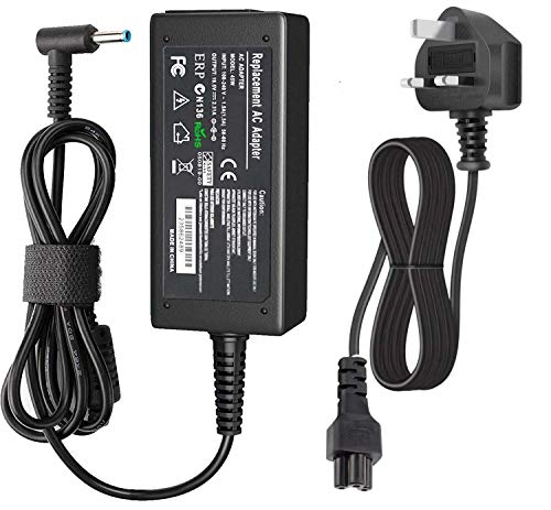 HP 45W Laptop Charger, 19.5V 2.31A Notebook Power Supply AC Adapter with Power Cord Replacement for HP Elitebook Folio, Envy, Spectre Ultrabook, Pavilion Touchsmart, HP X360 and More (4.5mm X 3mm)