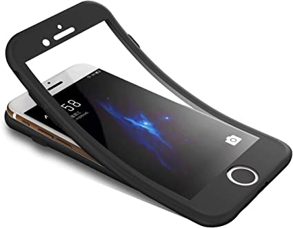Surakey Cover Compatibile con iPhone 6 Plus/6S Plus Integrale, Silicone Morbido Protettiva Cover con Vetro Temperato 360 Gradi Protezione Totale ...