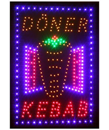 Insegna luminosa a LED con scritta (in tedesco/inglese)