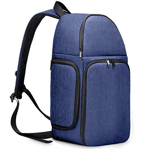 Yi-xir Mochila de diseño de moda para cámara de hombro, impermeable, de nailon, a prueba de arañazos, para hombres y mujeres, ligera y duradera (color: D15 azul profundo, tamaño: A)