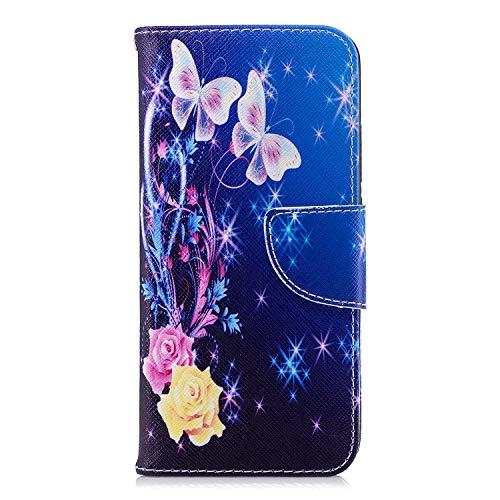 GIMTON Hülle für Huawei Honor 10, Schlagfestes PU Handyhülle mit Dünn und Flexibles TPU, Hochwertige Bookstyle Stil Schutzhülle für Huawei Honor 10, Muster 3