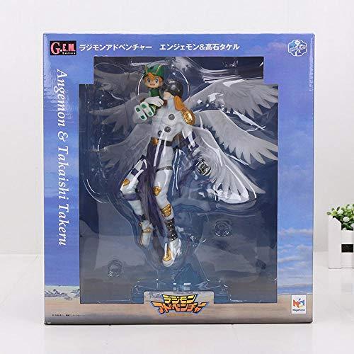 NoNo Digimon Aventure numérique Gabumon & Yamato Figur Angemon Wizarmon Dessin animé jouet PVC Figur d Action modèle poupée Cadeau 13-22cm-Angemon mit Box