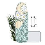 Brabnatia Housse pour Planche à Repasser, Extra Large 144 x 52 cm, Taille Universelle, Housse de Table à Repasser XL, avec 4 Clips et Tissu Anti-Fer