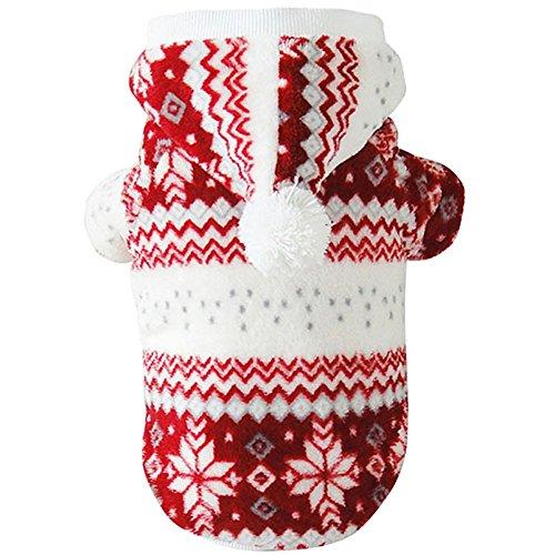 MIOIM ペット服 スノーフレーク パーカー フード付き ダウンジャケット ドッグウェア 小型犬用
