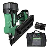 Metabo HPT 18V Cordless Framing Nailer, Brushless Motor, 2-Inch up to 3-1/2-Inch Clipped & Offset Round Paper Strip Nails, 3.0 Ah Lithium Ion Battery (NR1890DCS)