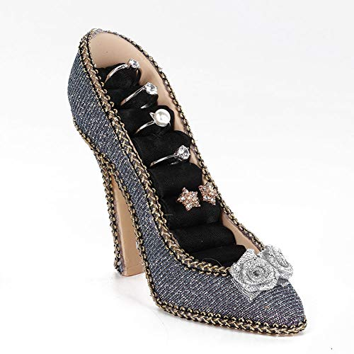 Soporte de joyería para zapatos de vestir modelo collar pendiente pulsera anillo colgante soporte de joyería (tacón alto)