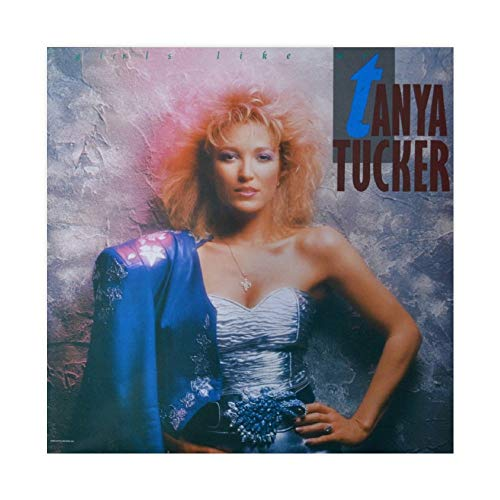 Tanya Tucker's Álbum Cover – Girls Like Me Canvas Poster Decoración Dormitorio Deportes Paisaje Oficina Decoración Habitación Regalo 60 × 60 cm Unframe-style1