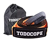TODOCOPE 3'x20ft 33,000lb Break Strength,Heavy Duty Recovery Tow Strap, with Reinforced Loops Protective Sleeves,Storage bag, Tree...