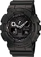 Casio G-Shock Watch For Men Ana-Digi Dial Resin Band - GA-100-1A1DR