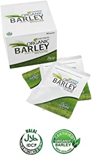 Organic Barley Juice Powder with Stevia   21st Century Super Food Drink   Provides nutrients for Survival including Proteins, 8 Amino Acids, Alkalizing Minerals   New Zealand Quality Box of 10 packs
