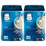 Gerber 1st Foods Baby Cereal, Rice Single Grain Cereal, 16 OZ (Pack of 2)