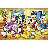 Rompecabezas para Adultos Rompecabezas de 1000 Piezas Rompecabezas - Mickey Mouse y Donald Duck Fairy Tale II - DIY Adult Kids Adultos Puzzles Juegos educativos para niños Adultos Regalos 38 * 26CM