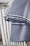 Textilhome - Funda Multiusos Foulard Cubre Cama Dante - 180x285 cm - para Funda Sofa 2 Plazas, Protector Cubre Sofa. Color Azul