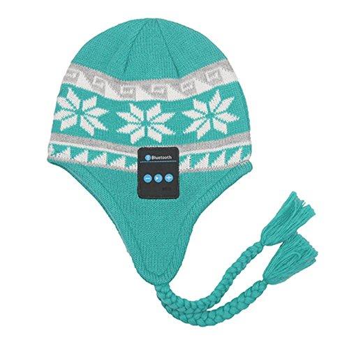 YI WORLD Smart Casquette Bluetooth Beanie (oreillette Bluetooth Hat) Fil Casque Music Hat Microphone intégré Répondre aux appels, Green
