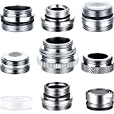Ripeng 9 Pieces Faucet Adapter Kit Kitchen Male/Female Faucet Adapter Sink Brass Aerator Adapter Hose Adapter to Connect Garden Hose, Water Filter, Standard Hose via Diverter and Thread Seal Tape