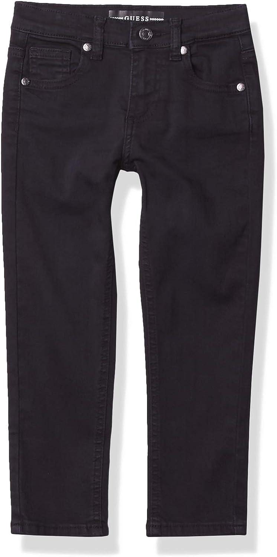 GUESS Boys' Little Stretch Bull Denim Skinny Fit 5 Pocket Jean