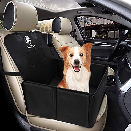 Wimypet Seggiolino Auto per Cani con Cintura di Sicurezza, Impermeabile Seggiolino Auto Cane con Lati Robusti di Piccola & Media Taglia, Trasportino Cane Auto Facile da Installare
