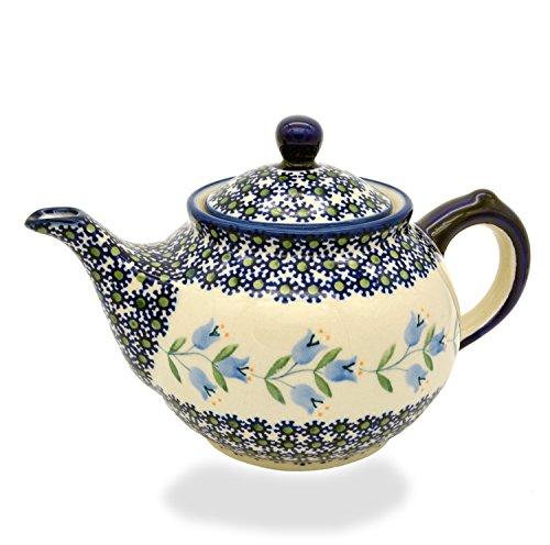 Bunzlauer Teekanne für ca 6 Tassen oder 1,25 Liter (Dekor Agnes)