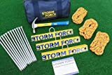 Aircraft Tie Down Anchoring System Kit. 19-Piece. Lightweight & Strong.