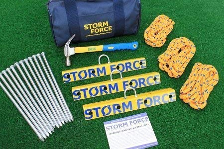 Stormforce Aircraft Tie Down Anchor Kit Also Suitable for RV's & Awnings