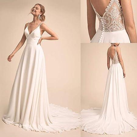 Robe de mariée simple et charmante à encolure