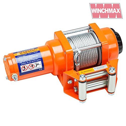 WINCHMAX Elektrische Seilwinde 12 V, Stahlseil, drahtlose Doppelfernbedienung
