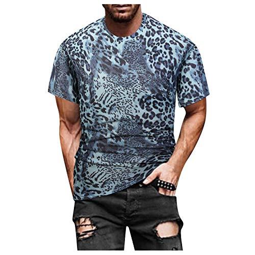 Herren Sommer T-Shirt Rundhals-Ausschnitt Slim Fit Baumwolle-Anteil Moderner Männer T-Shirt Crew Neck Hoodie-Sweatshirt Kurzarm lang