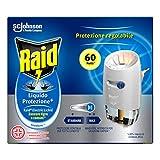 Raid Liquido Elettrico Protezione +, Antizanzare Tigre e Comuni, Confezione da 1 Base e 1 Ricarica 36 ml, Protezione Continua per 60 Notti