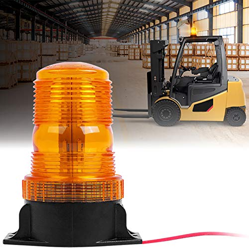 30 LED Forklift Lights Emergency Beacon Strobe Lights Safety Warning Flashing Lights for 10-110V Truck Tractor Golf Carts UTV Cars Bus(30W Amber/Yellow)