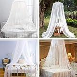 FOCHEA Moskitonetz Bett, Kuppel Groß Mückennetz für Einzelbett, Doppelbett und Babybett, Prinzessin Moskitonetz Mückennetz Insektennetz Betthimmel für Reise und Zuhause - 7