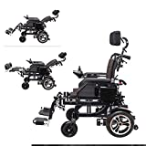 Home Accessories Elderly Disabled Folding Electric Wheelchair Large Capacity Polymer Ion Battery (2 Batteries 26A) Disabled Indoor and Outdoor Mobility Mobility Electric Wheelchair with Hand Brake