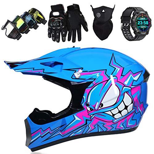 LCRAKON Motocross Helm für Kinder Offroad Motorradhelm Set mit Schutzbrille...