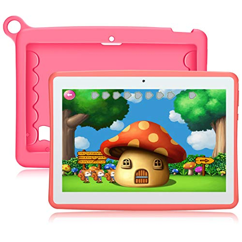 QIMAOO Android 8.1 Kids Tablet, Parental Control & Google Play Pre-Installed, 10.1 Inch Tablet with SIM Card Slots, WIFI, 2GB RAM 32GB ROM, 5000mAh Battery, Kid-proof Case with Stand
