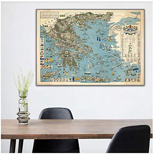 Mapas Antigua Grecia HD Adventure Vintage Map Pinturas