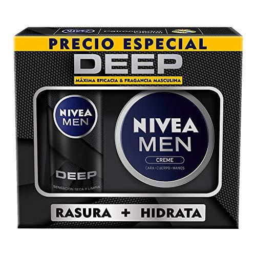 NIVEA MEN Kit Nivea Men Creme + Nivea Men Espuma Para Afeitar Deep, color, 350 ml, pack of/paquete de