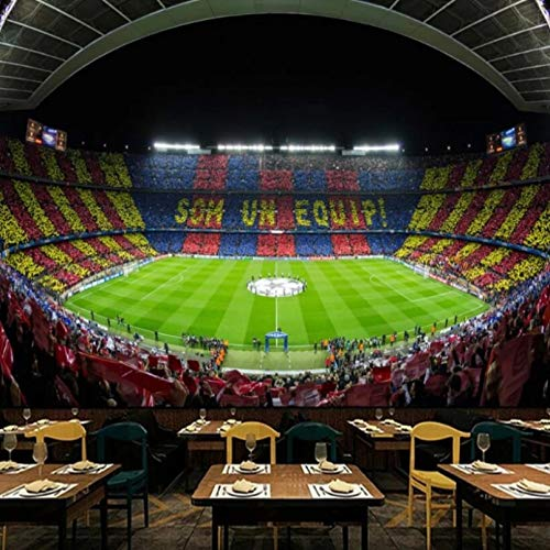 Papel pintado de la foto del estadio de fútbol del club de fútbol de Barcelona de fama mundial bar moderno restaurante decoración industrial papel tapiz mural 3D 200x140cm