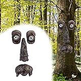 Tree Faces Decor Outdoor, Halloween Tree Faces Old Man Tree Hugger, Tree Face Bark Ghost Decor Facial Tree Decorations for Outdoor Funny Yard Art Garden Halloween Easter