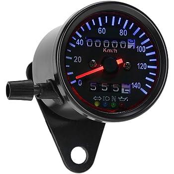 Tachometer KM//H Tachometer 1 St/ück Universal Motorrad Digitaltacho Tacho Motorrad Kilometerz/ähler